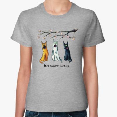 Женская футболка Весенняя песнь