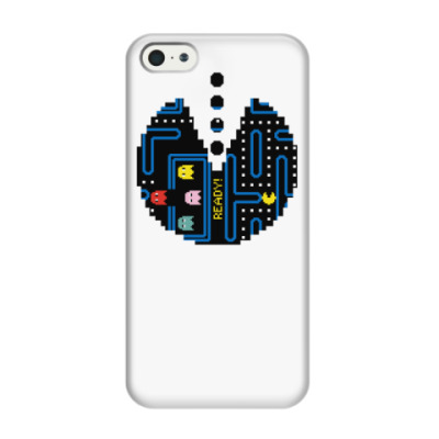 Чехол для iPhone 5/5s Pac-Man. PacMan. ПакМан. ПакМен. Pixels. Ready!