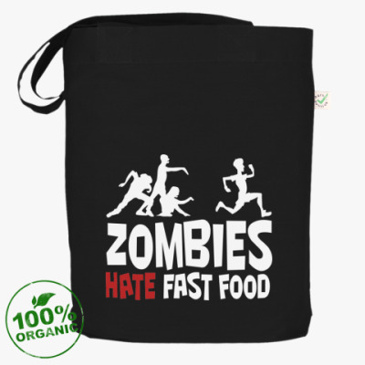 Сумка 'Zombies hate fast food'