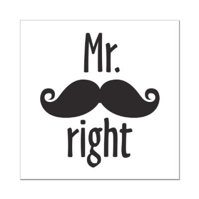 Наклейка (стикер) Mr. right