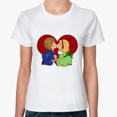 Классическая футболка день св.валентина