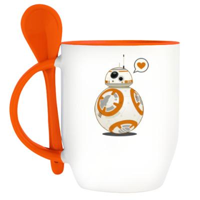 Кружка с ложкой Sphero's Star Wars BB-8 Droid