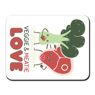 Коврик для мыши Овощно-мясная любовь