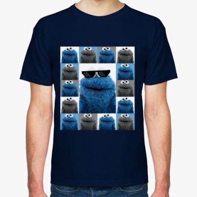 Футболка Cookie monster collage