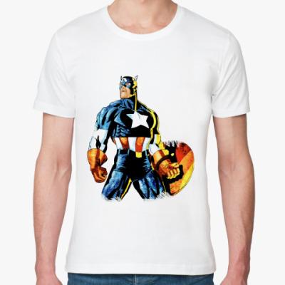 Футболка из органик-хлопка  Капитан Америка