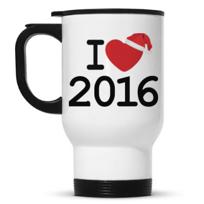 Кружка-термос Новогодний принт I Love 2016