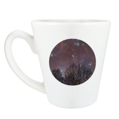Чашка Латте Ночное небо