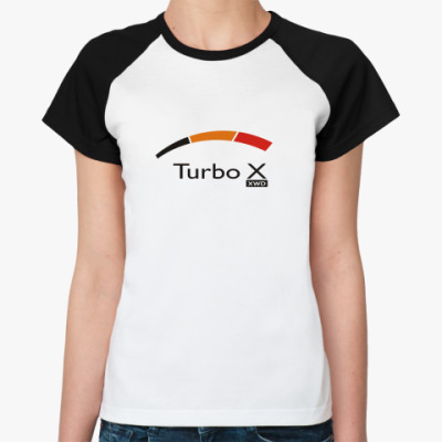Женская футболка реглан   TURBO X