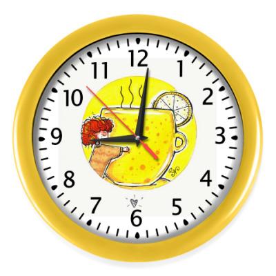 Настенные часы Желтая чашка