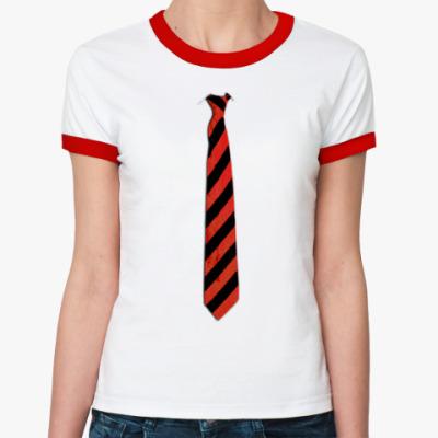 Женская футболка Ringer-T Галстук в косую