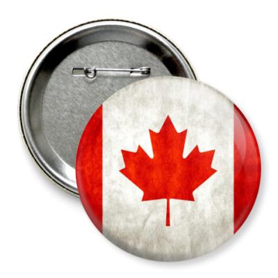 Значок 75мм Канада