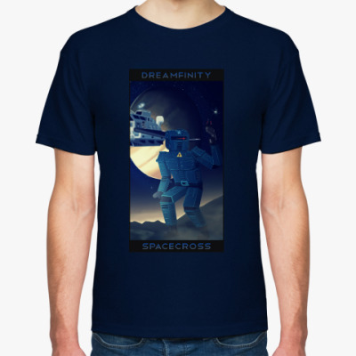 Футболка Dreamfinity Spacecross, темно-синяя