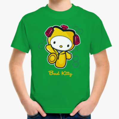 Детская футболка Bad Kitty