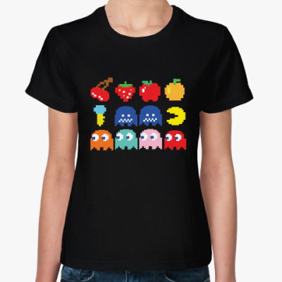 Женская футболка Pac-Man / PacMan / ПакМан