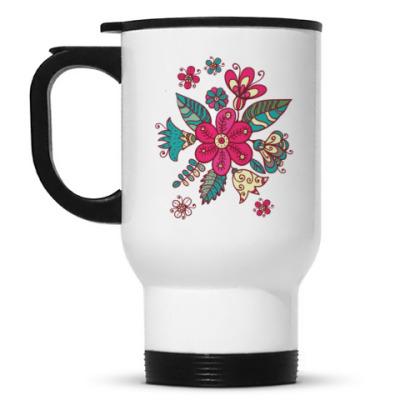 Кружка-термос Цветы
