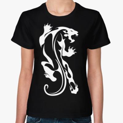 Женская футболка Дикая Кошка