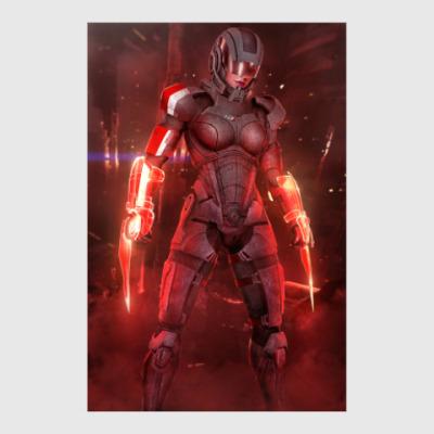 Постер Женщина Шепард Страж - Mass Effect