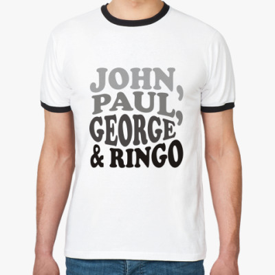 Футболка Ringer-T John.Paul.George&Ringo