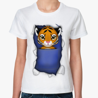 Классическая футболка 'Тигр'
