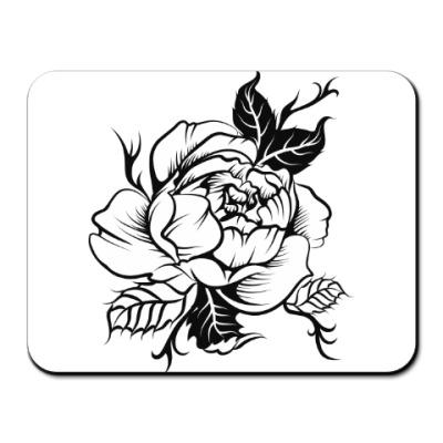 Коврик для мыши цветок пиона