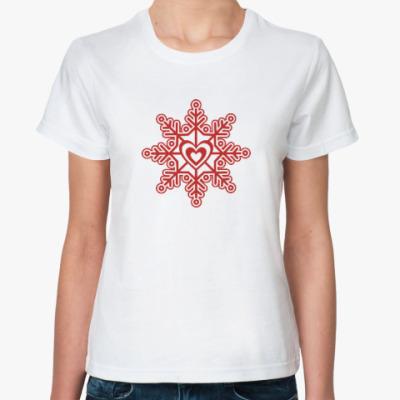Классическая футболка Любовь. Новый год.