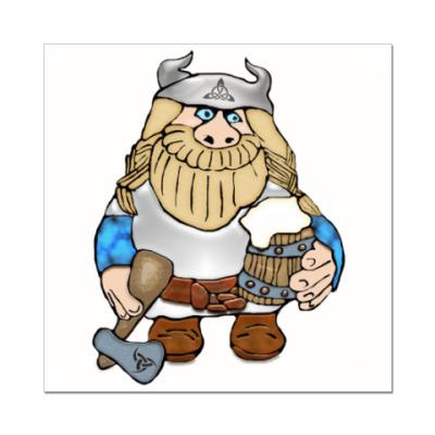 Наклейка (стикер)  Викинг
