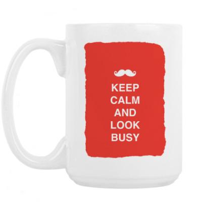 Кружка Keep calm and look busy