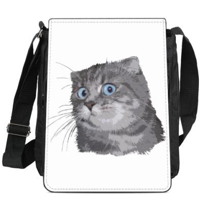 Сумка-планшет Кот