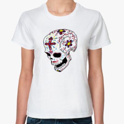Классическая футболка  футболка Черепок