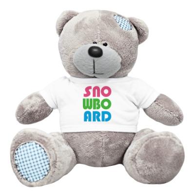 Плюшевый мишка Тедди snowboard
