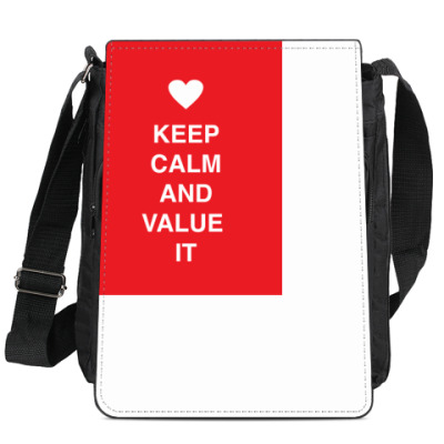 Сумка-планшет Keep calm and value it
