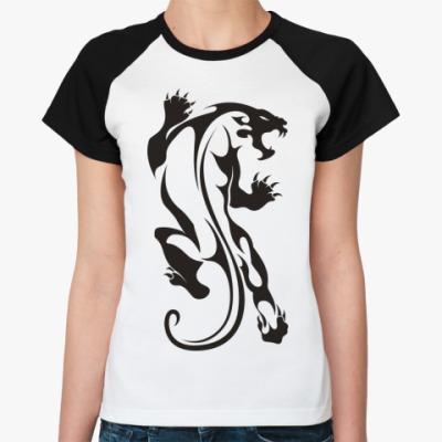 Женская футболка реглан Дикая Кошка