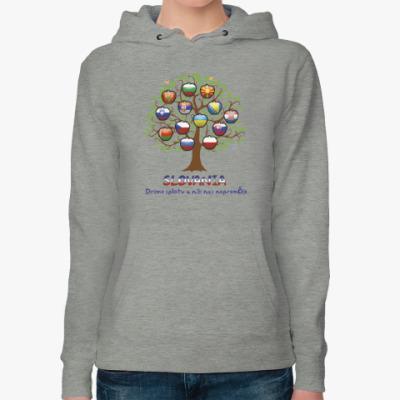 Женская толстовка худи Дерево славян