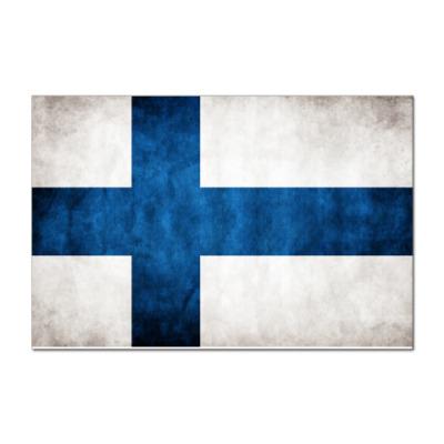 Наклейка (стикер)  'Финский флаг'