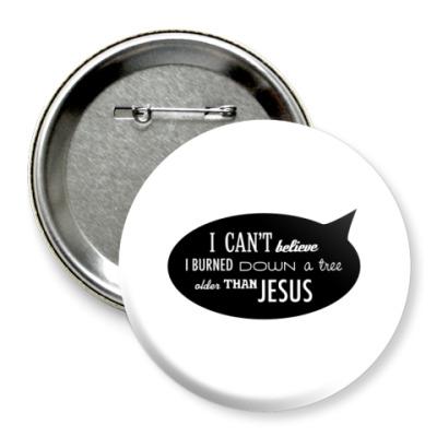 Значок 75мм 'Jesus'