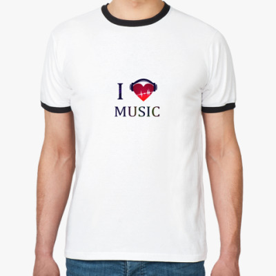 Футболка Ringer-T  С любовью к музыке
