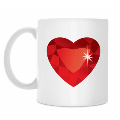 Кружка Сердце-Бриллиант