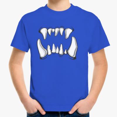 Детская футболка зубы монстра, орка