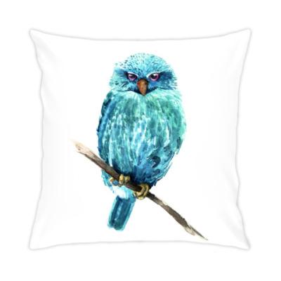 Подушка Акварельная сова