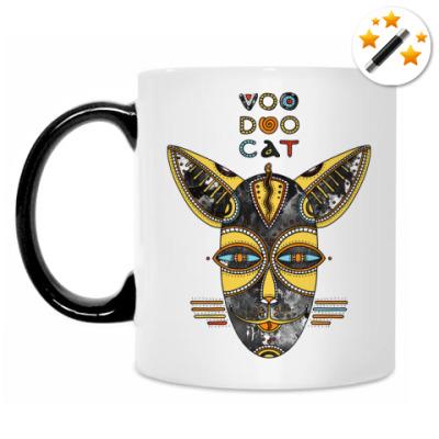 Кружка-хамелеон Вуду кот