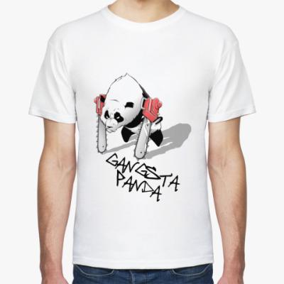 Футболка gangsta panda benzopila
