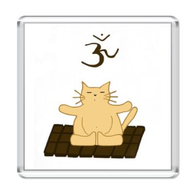 Магнит Медитирующий кот