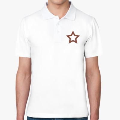Рубашка поло День победы Георгиевская лента звезда