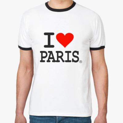 Футболка Ringer-T I love Paris