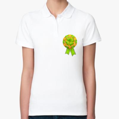 Женская рубашка поло Медаль