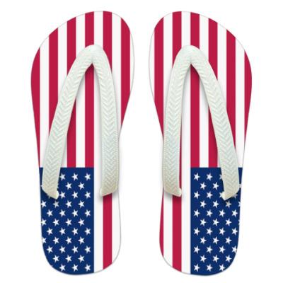 Шлепанцы (сланцы) Флаг Америки