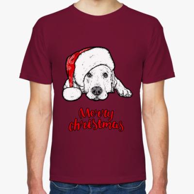 Футболка Собака Санта