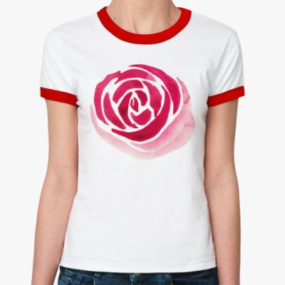 Женская футболка Ringer-T Розы...