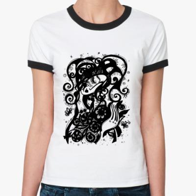 Женская футболка Ringer-T Букет