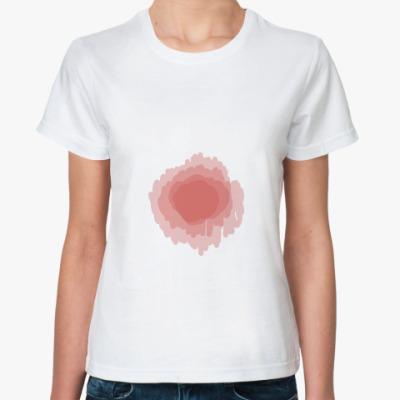 Классическая футболка реалистичное  кровавое пятно